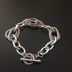 Silver and Gold-Tone Bracelet